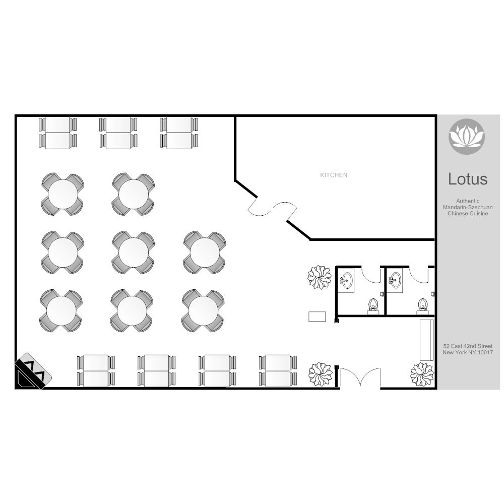 Restaurant Layout on warehouse floor plan