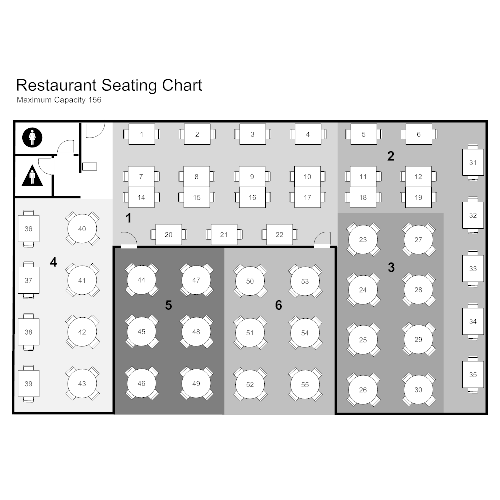 Restaurant Seating Chart Schematic Click To Edit This Example Image