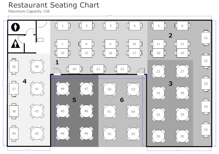 Restaurant floor plan how to create a restaurant floor plan see restaurant floor plan example malvernweather Image collections