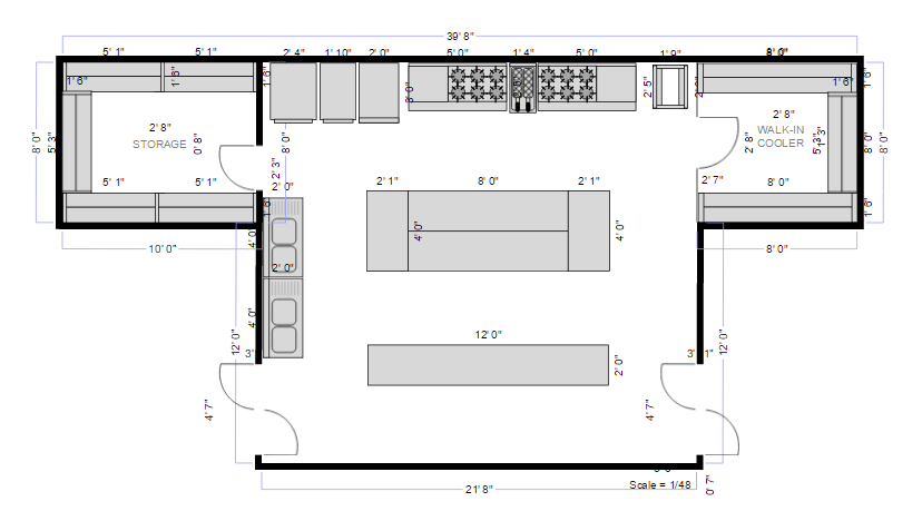 Restaurant Kitchen Layout Plans restaurant floor plan maker | free online app & download