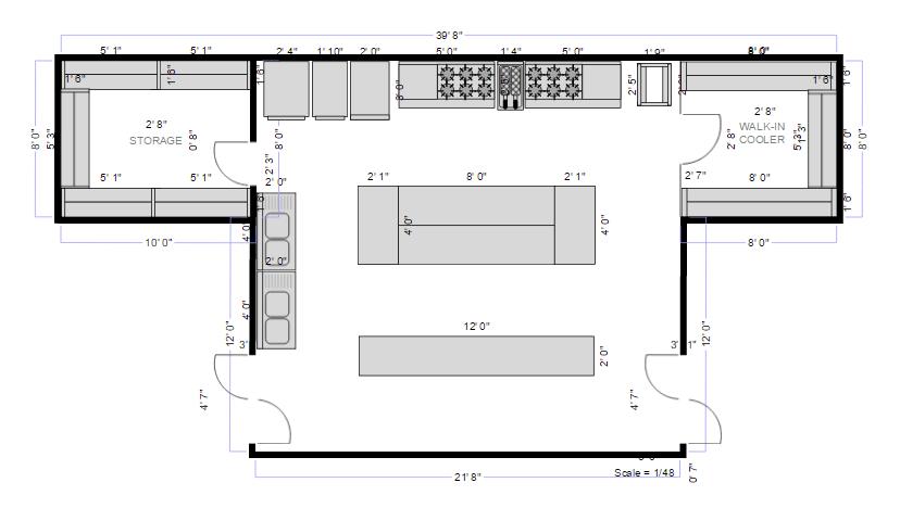 Restaurant Floor Plan Maker – Restaurant Floor Plan With Dimensions
