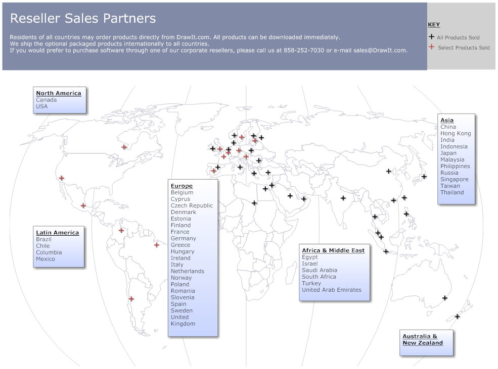 Reseller sales territory map