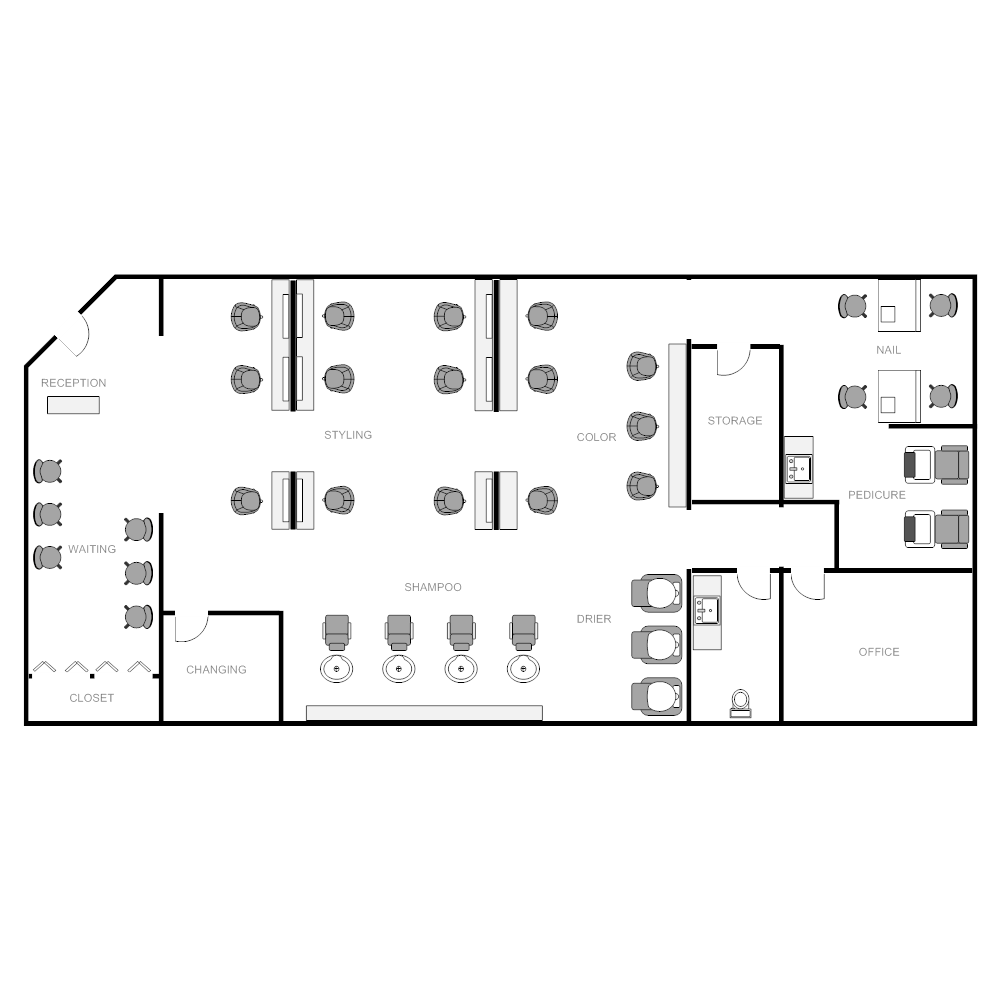 Salon layout for Design a beauty salon floor plan