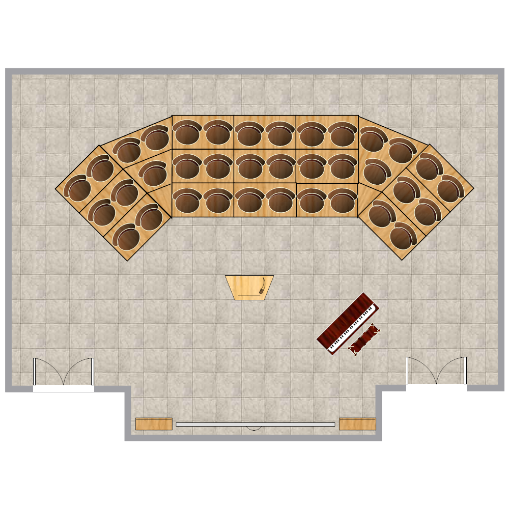 choir  u0026 orchestra room plan