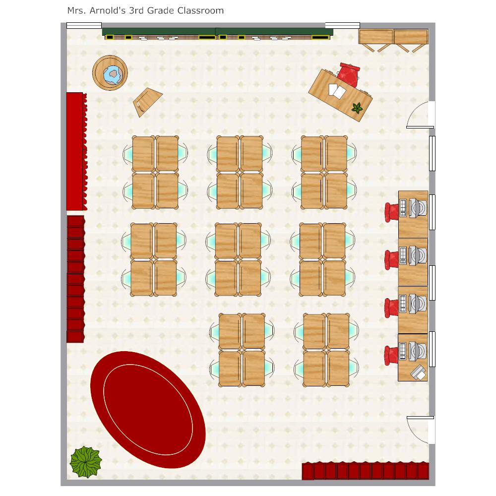 grade school classroom seating chart