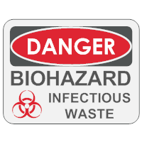 Biohazard Infectious Waste Sign