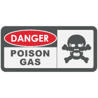 Danger - Poison Gas Sign