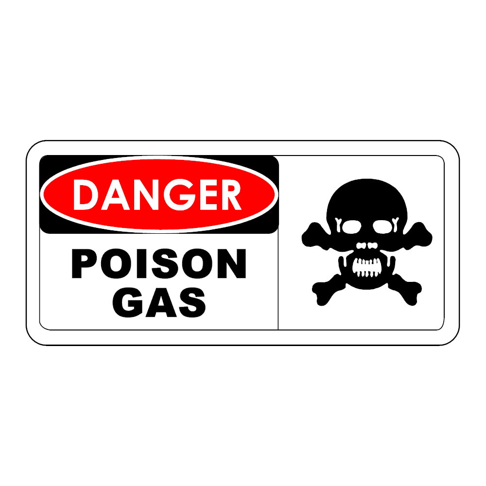 Example Image: Danger - Poison Gas Sign