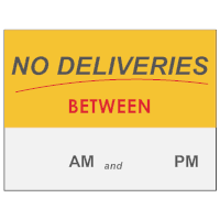 No Deliveries Sign