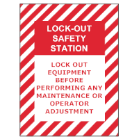 Safety Lockout Sign