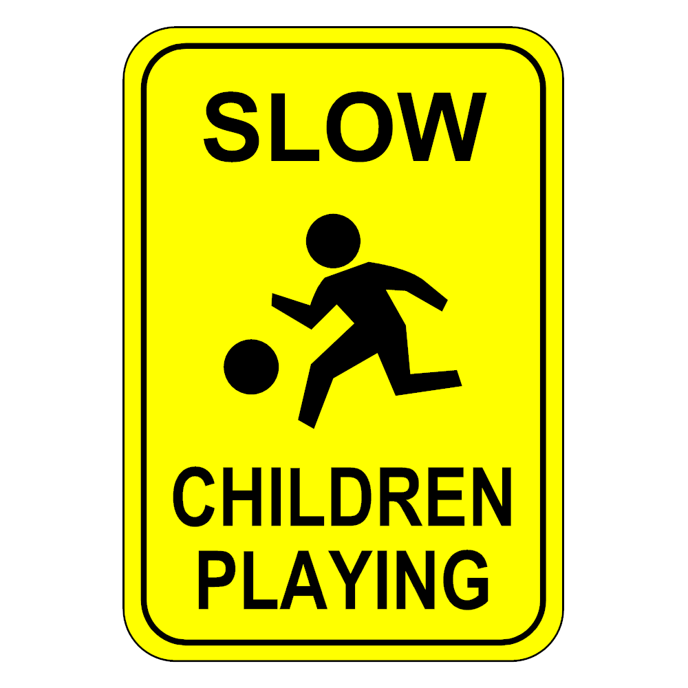Example Image: Slow - Children Playing Sign