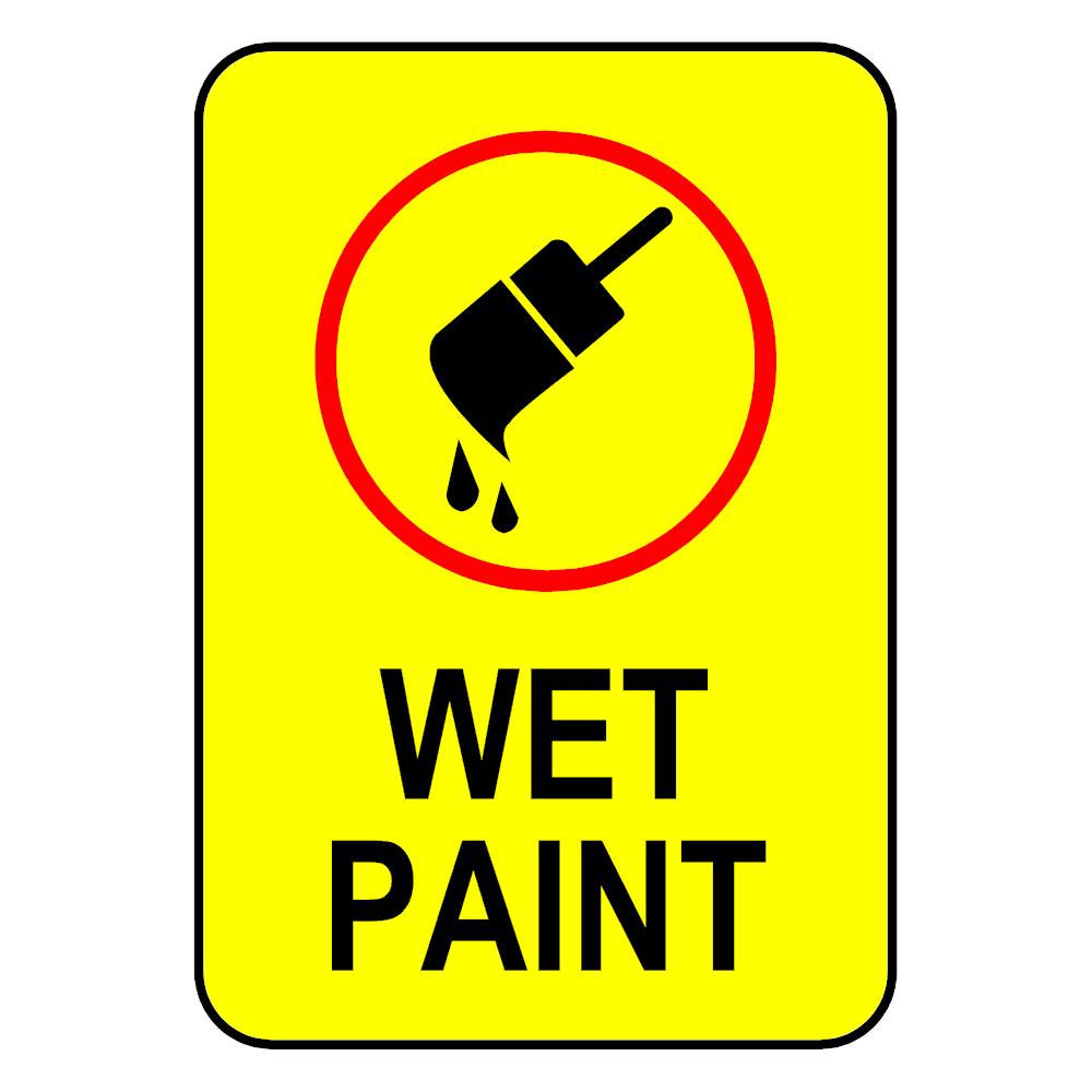 Example Image: Wet Paint Sign