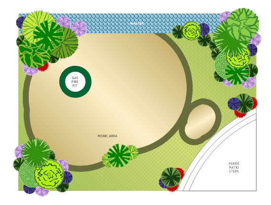 superior yard garden layout template