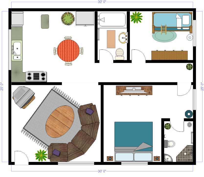 Easiest Kitchen Design Software: Backyard Pool CAD Layouts