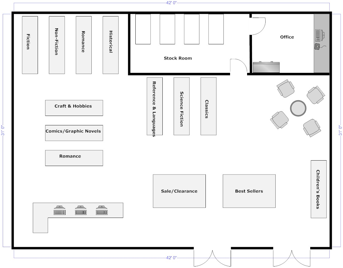 Retail floor plan software warehouse layout design for Blueprint design software