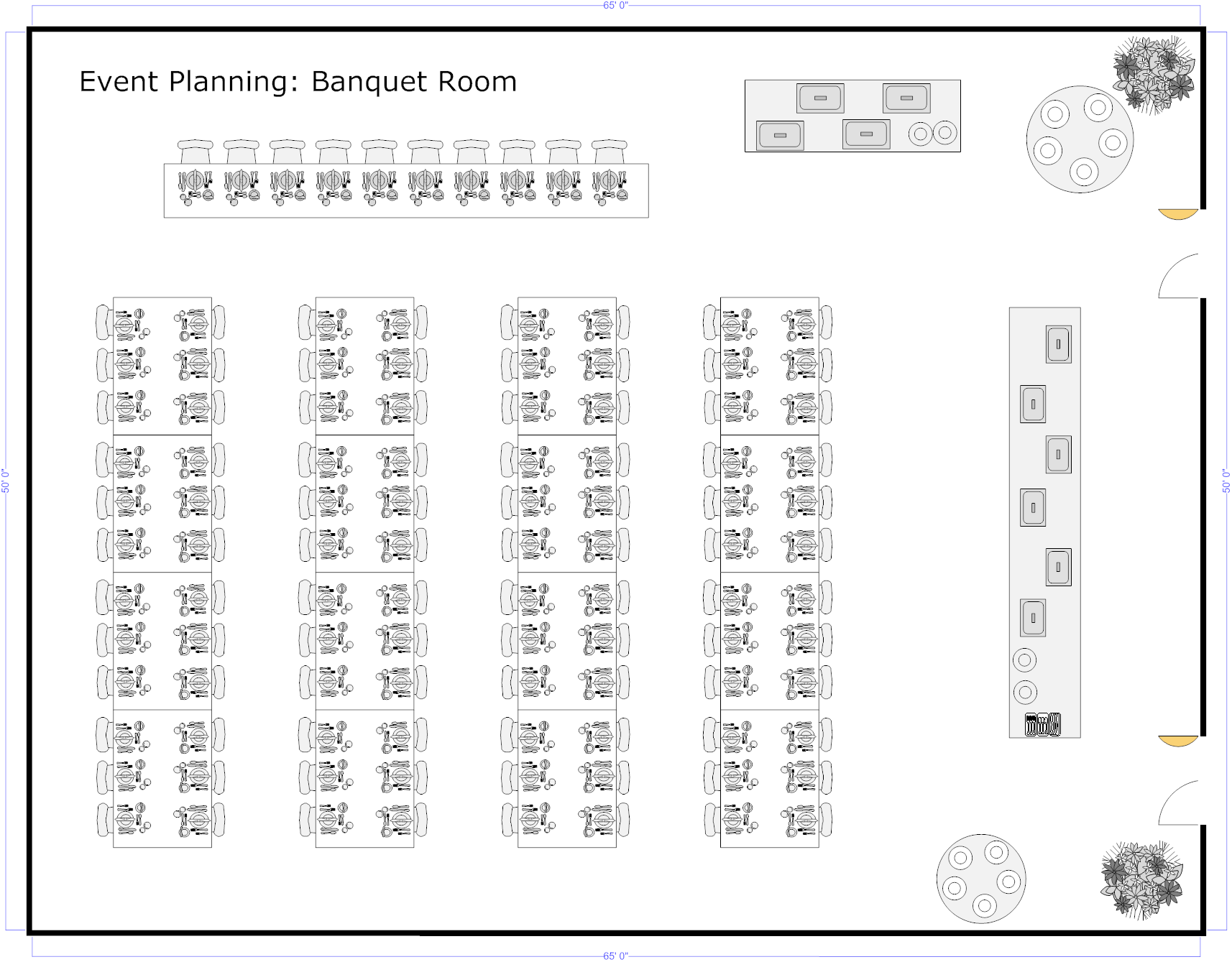 Banquet planning software make plans for banquets Meeting space calculator