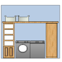 Laundry Room Elevation Plan