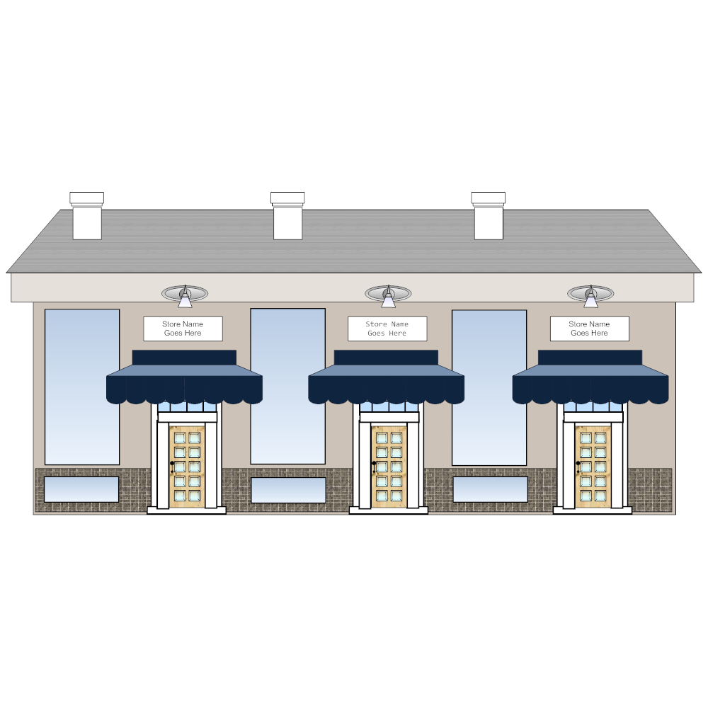 Sample Front Elevation U : Store front elevation