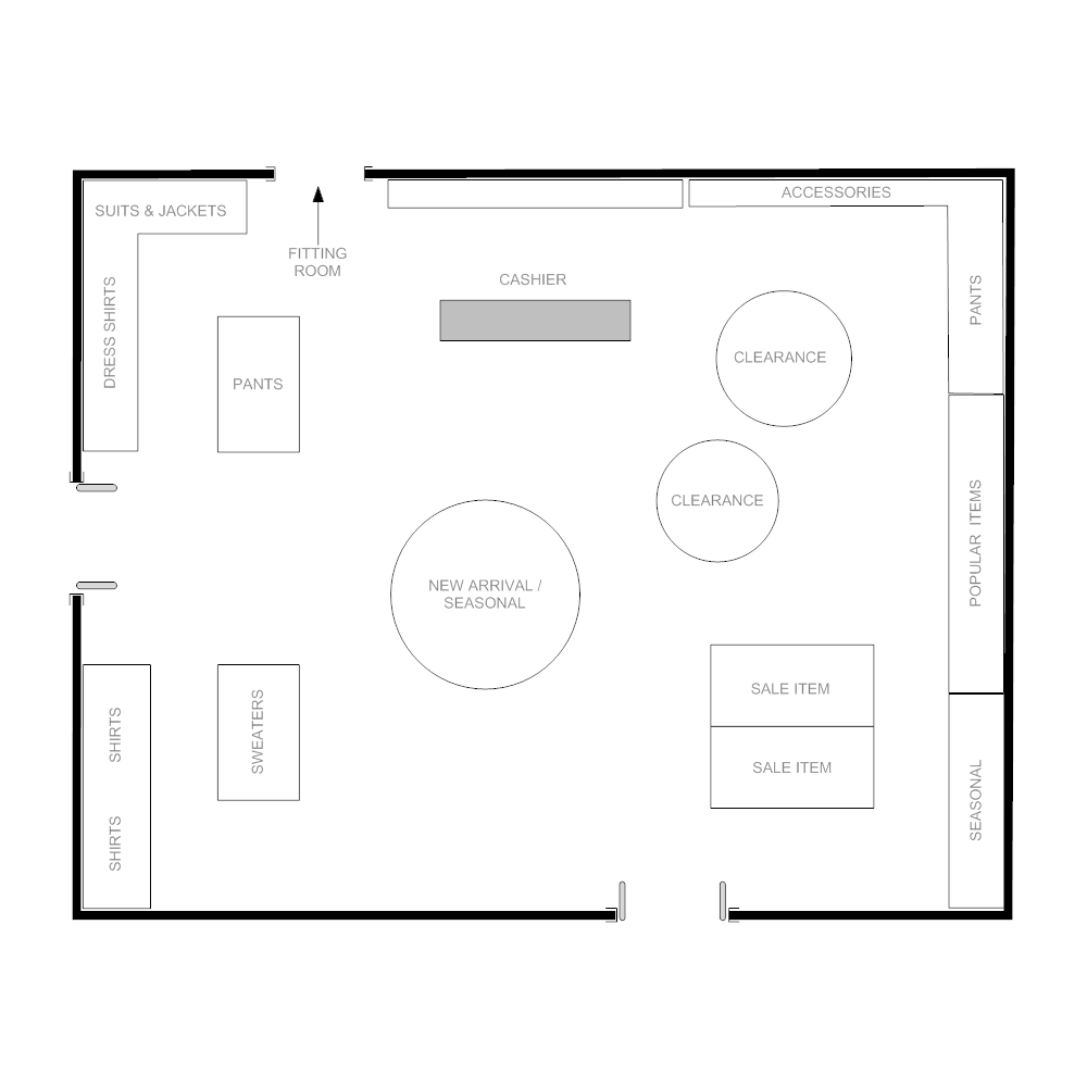 Boutique floor plan for Floor plan layout design