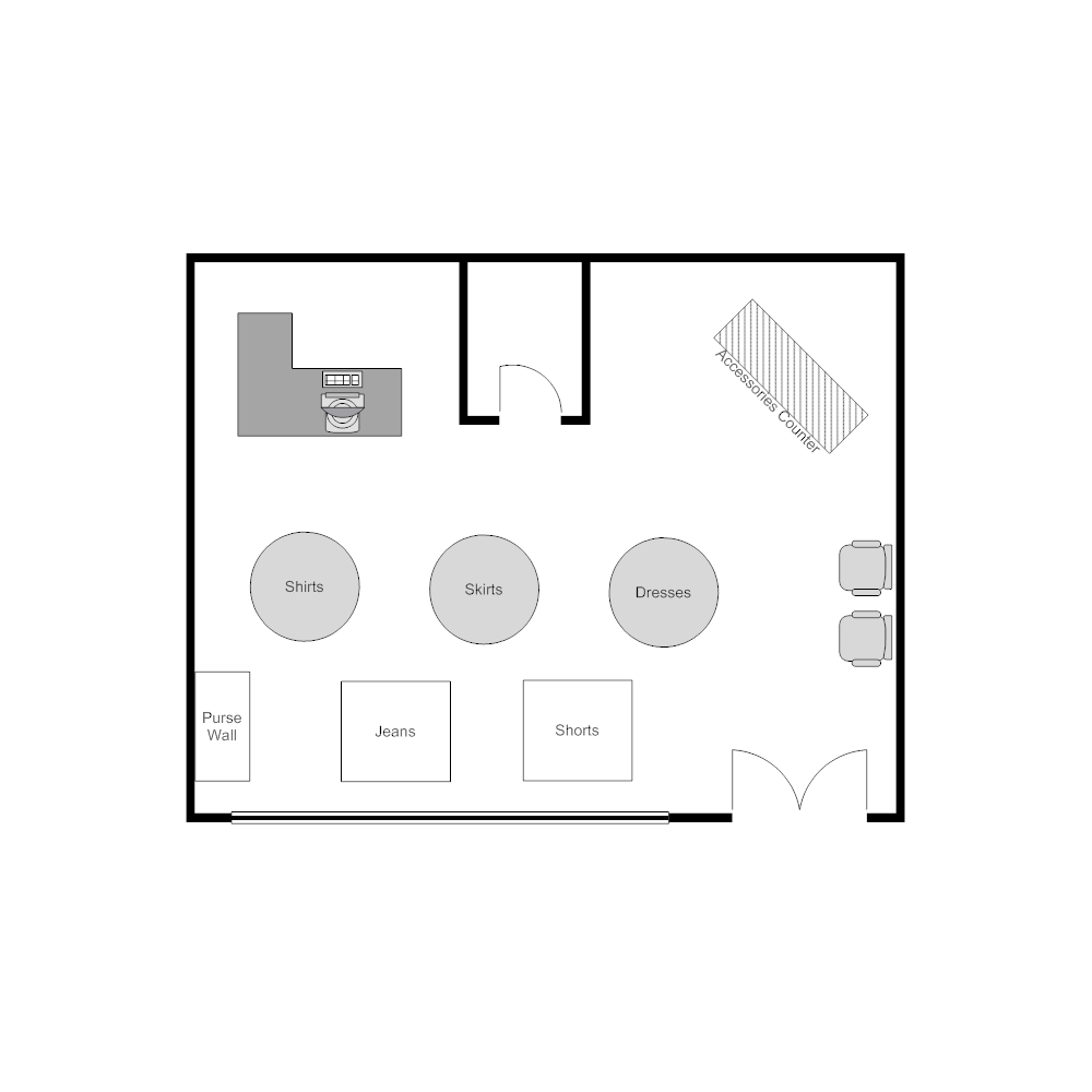 clothing store layout