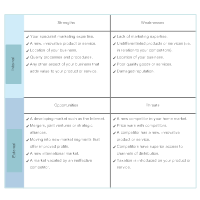 Product Marketing - SWOT Diagram