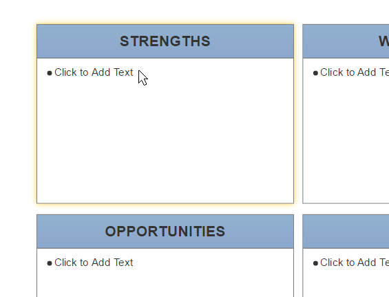 How to make a swot analysis complete swot ccuart Choice Image