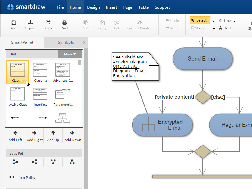 how to make uml diagrams rh smartdraw com how to make diagrams in word how to make diagrams in powerpoint