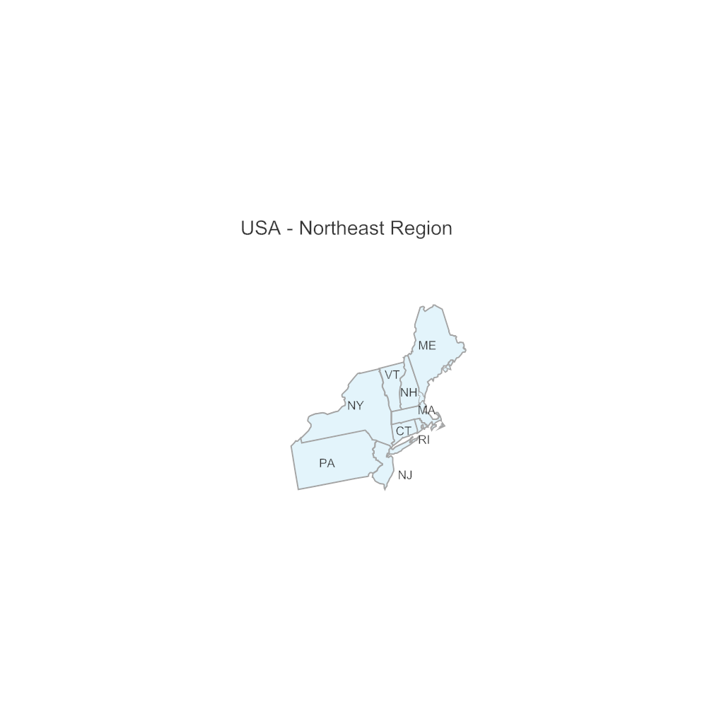 Example Image: USA Region - Northeast
