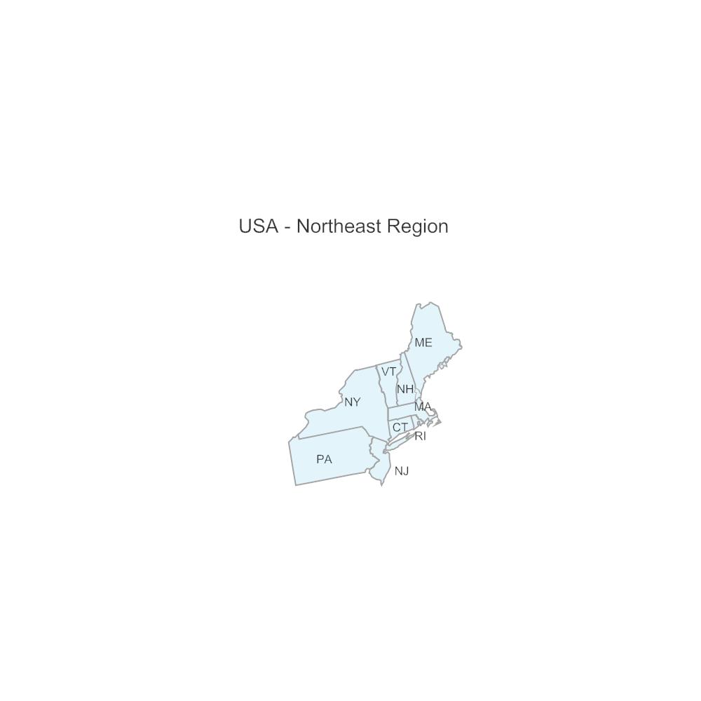 USA Region  Northeast