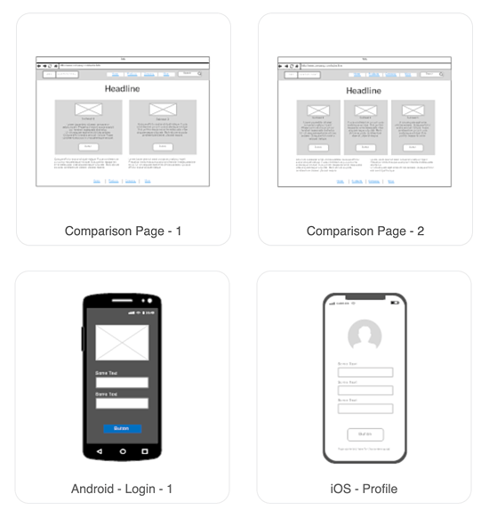 Website Wireframe: Wireframe Tool - Get Free Wireframe Templates And Symbols