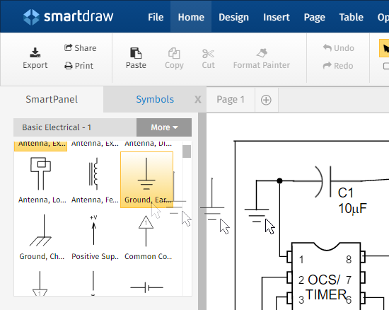 new powerful features for electrical engineering rh smartdraw com basic electrical engineering diagrams electrical engineering circuit diagrams