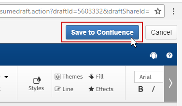 Save SmartDraw diagram into Confluence