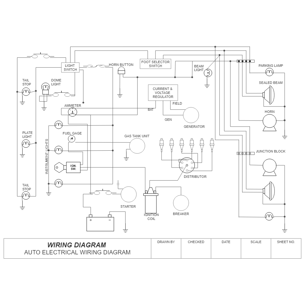 lights in a auto wiring diagram wiring diagram auto  wiring diagram auto