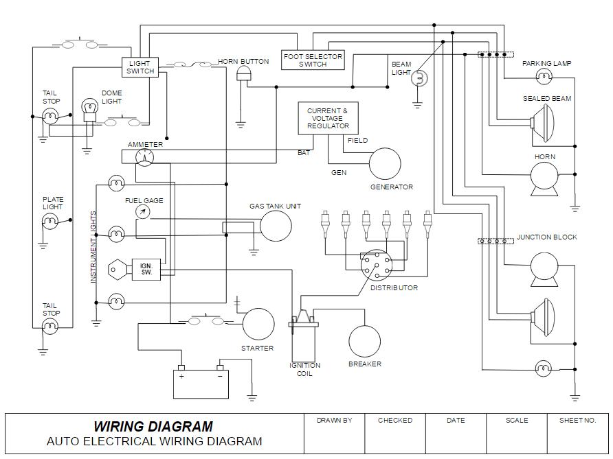Wiring Diagram Software - Free Online App & Download residential house wiring plan drawing SmartDraw
